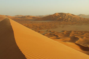 The high dunes of the Empty Quarter, or Rub al Khali, in Oman.
